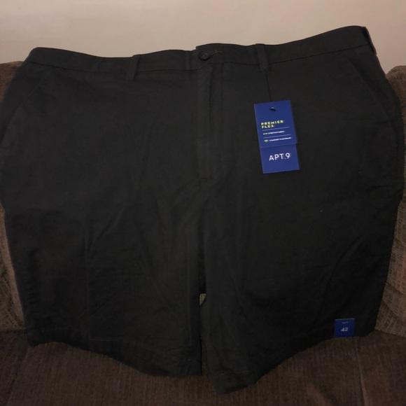 NEW APT.9 Men/'s Premier Flex Stretch Comfort Waistband Cargo Shorts Sz 36 40 42